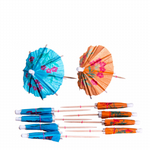 100mm Mixed Design Paper Parasols